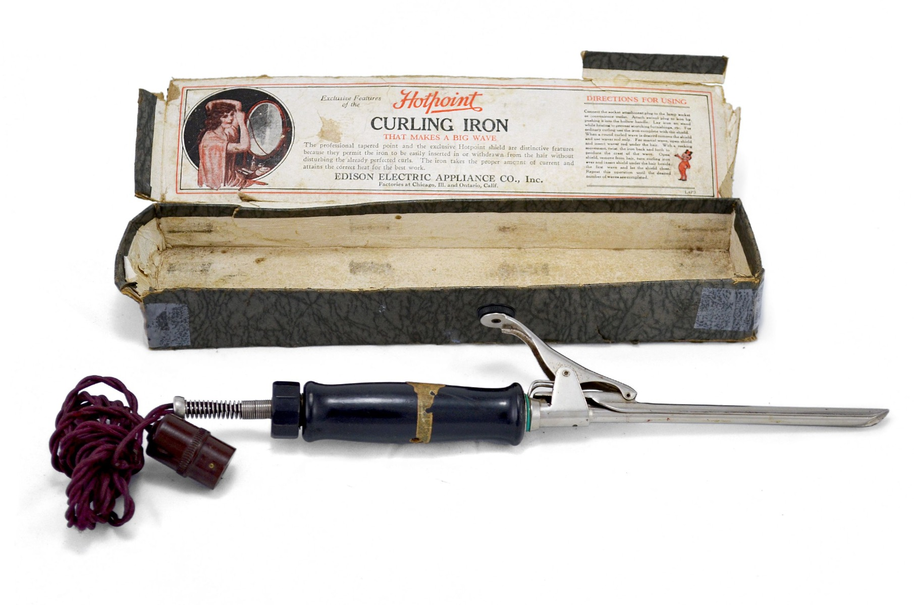 1920s Hotpoint Curling Wand